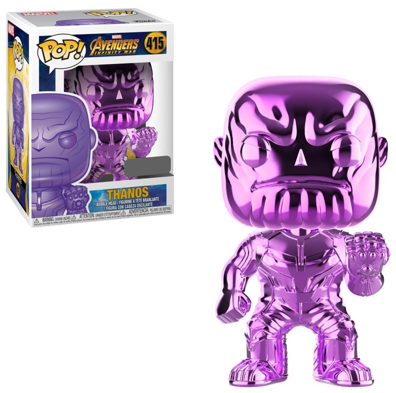 Excellent Condition Chrome Thanos Set Marvel Funko Pop