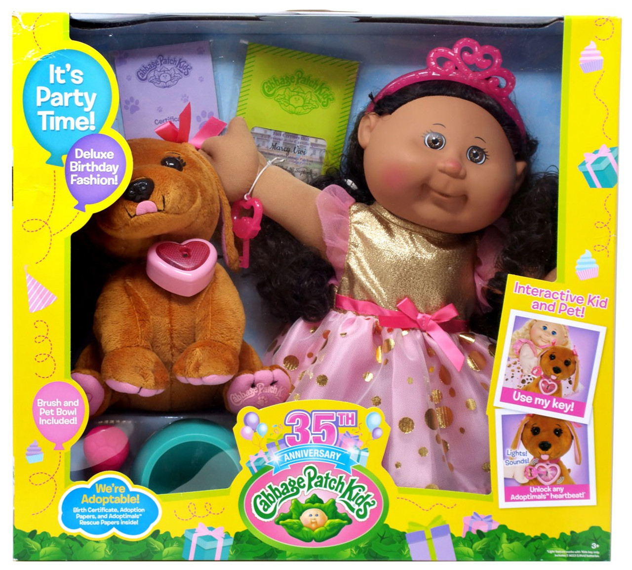 Cabbage Patch Kids 35th Anniversary Adoptimals Marcy Vivi Doll Wicked Cool  Toys - ToyWiz