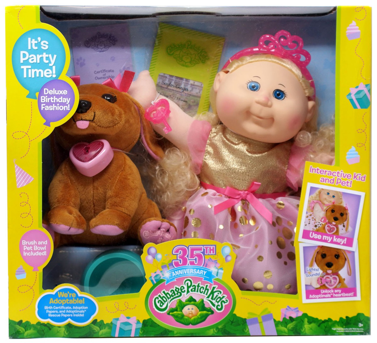 Cabbage Patch Kids 35th Anniversary Adoptimals Saylor Ginger Doll Wicked  Cool Toys - ToyWiz