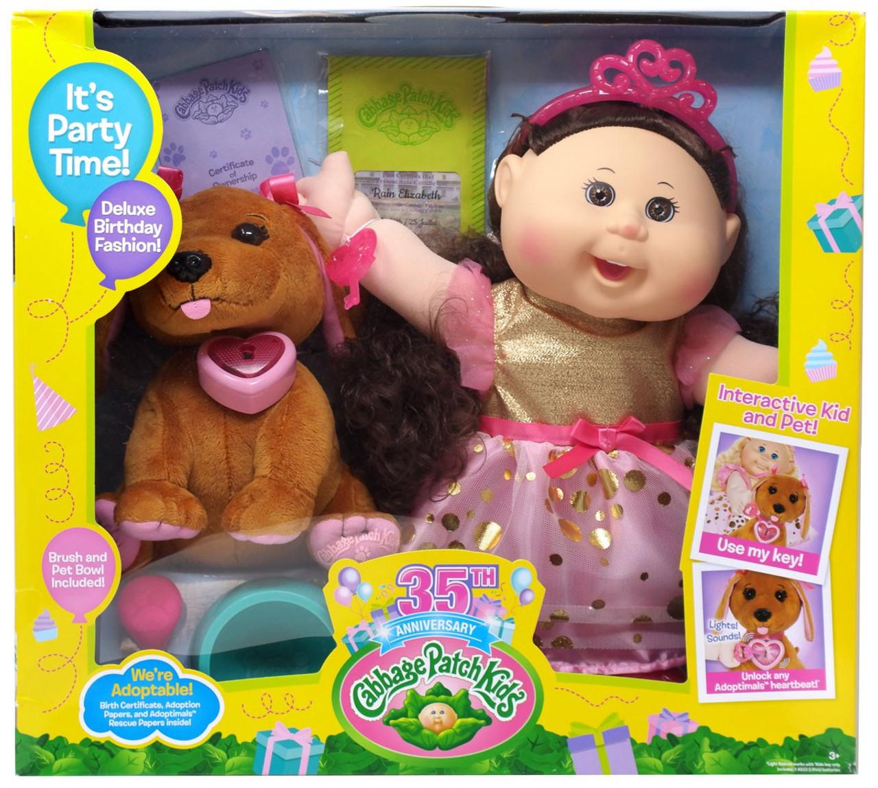 Cabbage Patch Kids 35th Anniversary Adoptimals Rain Elizabeth Doll Wicked  Cool Toys - ToyWiz