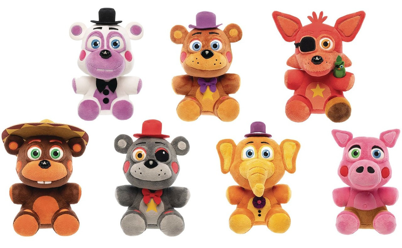 Funko Five Nights at Freddy's Pizza Simulator 7 Piece Set of Plushes
