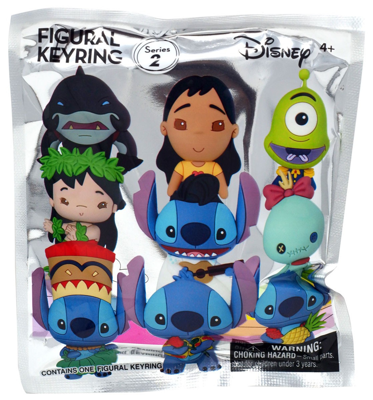 Loose Monogram Disney/'s Lilo /& Stitch Series 1 Hula Figural Key Ring Keychain