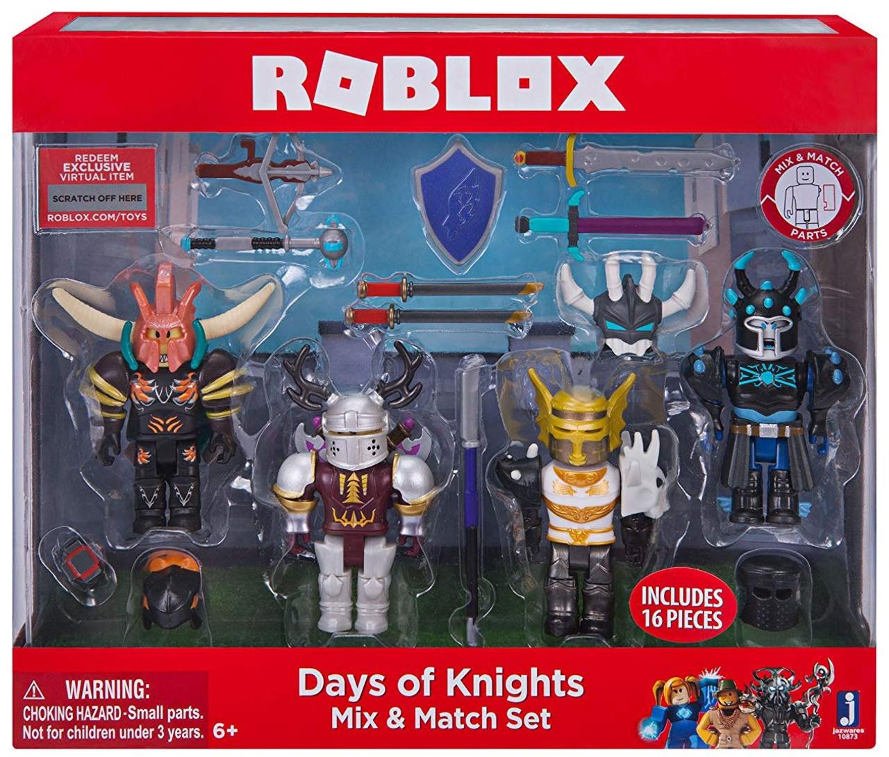 Roblox Mix Match Days Of Knights 3 Figure 4 Pack Set Jazwares Toywiz