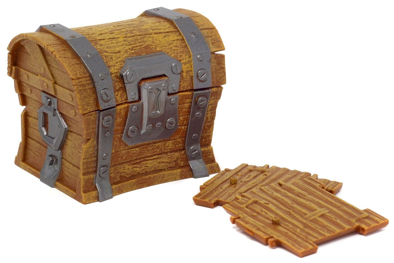 Fortnite Empty Chest With 2x Building Material Pieces 3 Inch Loot Chest Loose