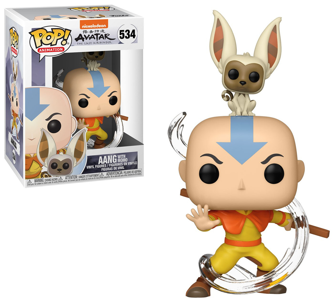 Funko Avatar The Last Airbender Funko Pop Animation Aang With Momo