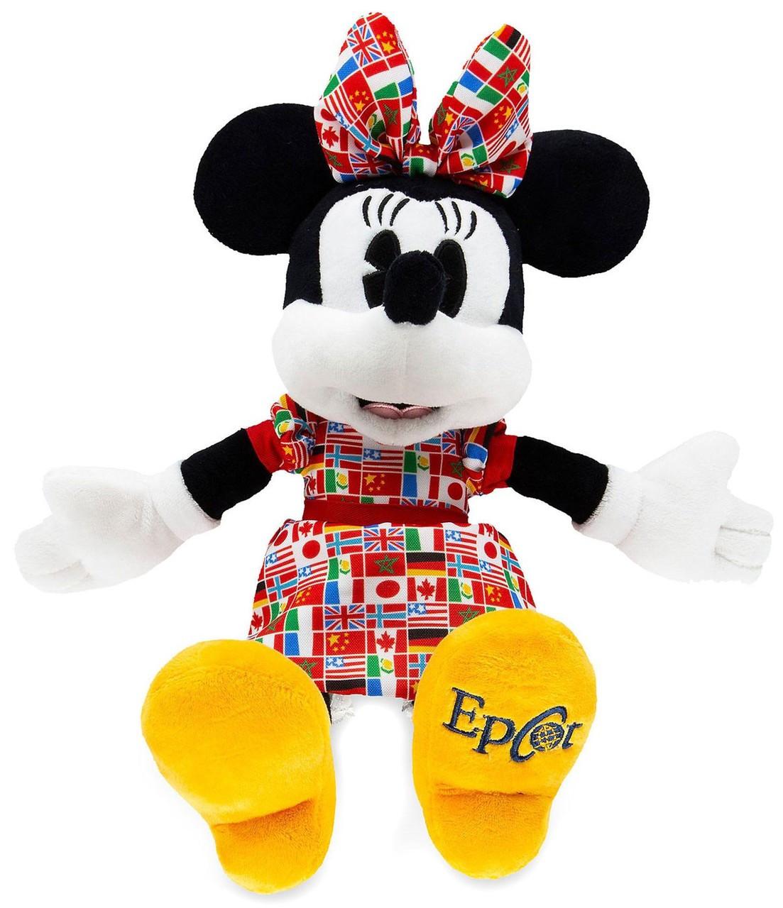 2020 Disney Epcot World Showcase 11in Mickey Minnie Country Flag Plush Set NEW