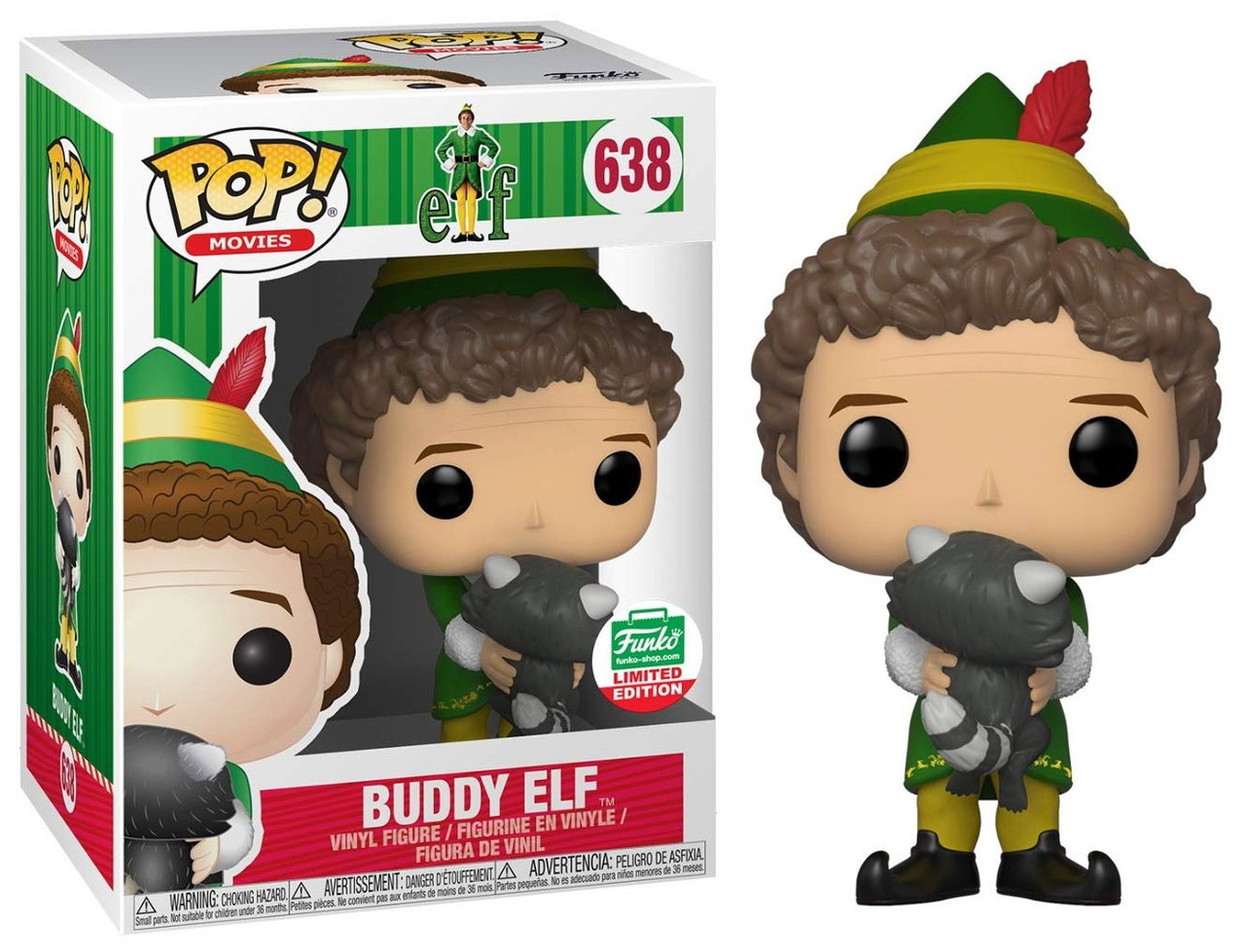 Funkos Buddy Elf 12 Days Of Christmas Exclusive! Movies: Elf Funko POP #638 2018 With Raccoon