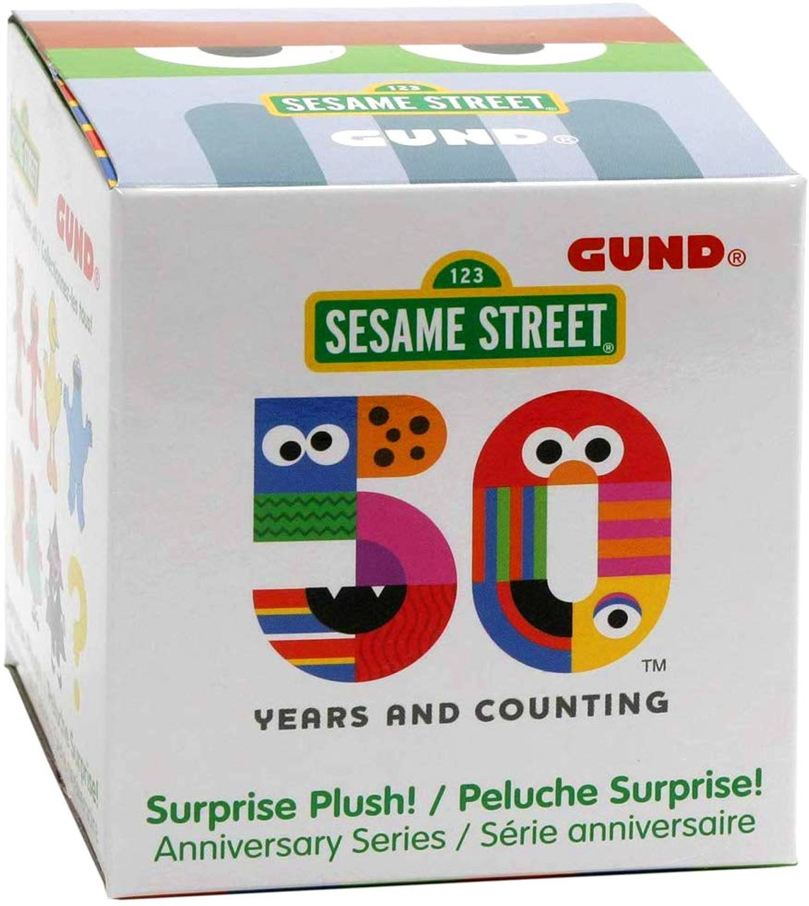 Sesame Street 50th Anniversary Surprise Mini Plush Mystery Pack