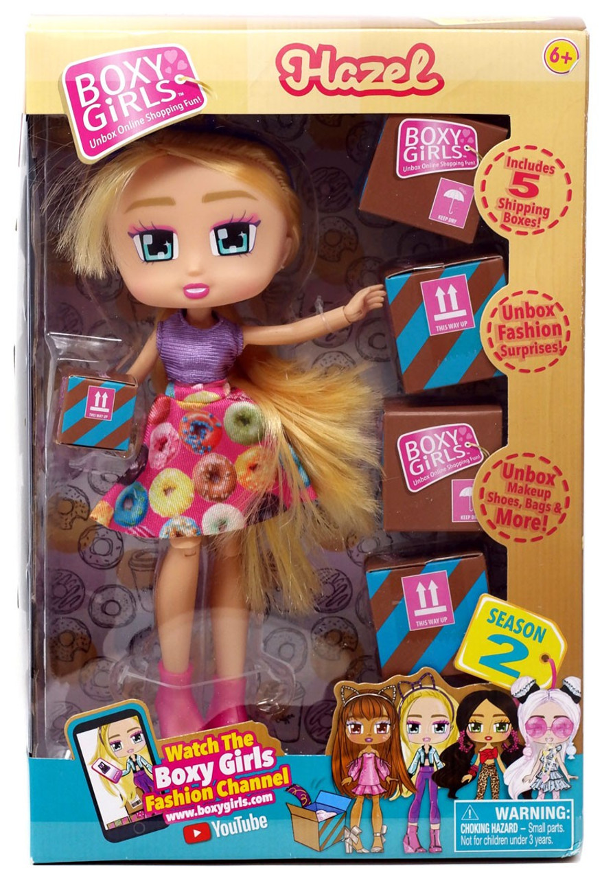 Boxy Girls BROOKLYN Fashion Doll 4 Surprise Blind Boxes Makeup Shoes Bags /& More