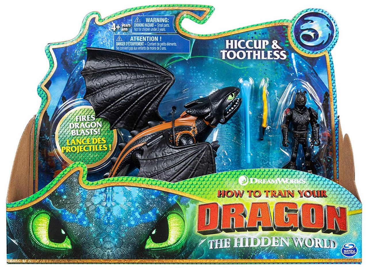 How to Train your Dragon Hiccup /& Light fury Hidden World Movie Figure 2019
