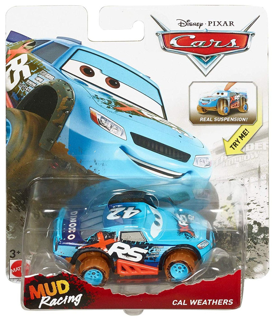 Disney Pixar Cars Cars 3 Xrs Mud Racing Cal Weathers Diecast Car Xrs