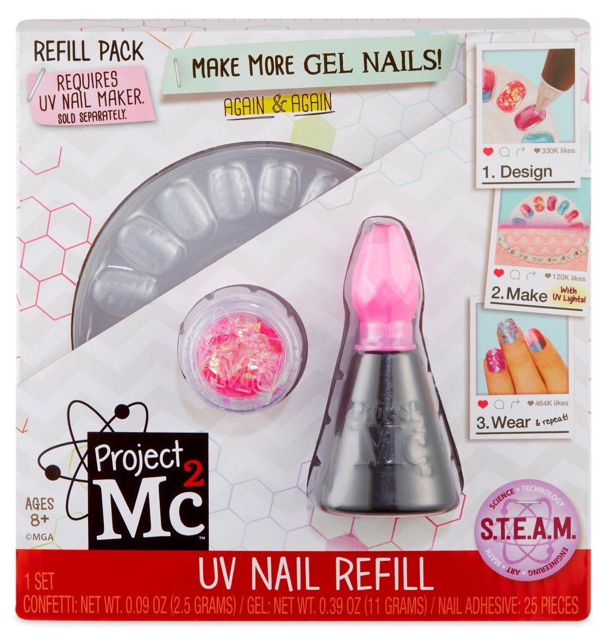 Project MC2 UV Nail Refill Refill Pack [Pink]