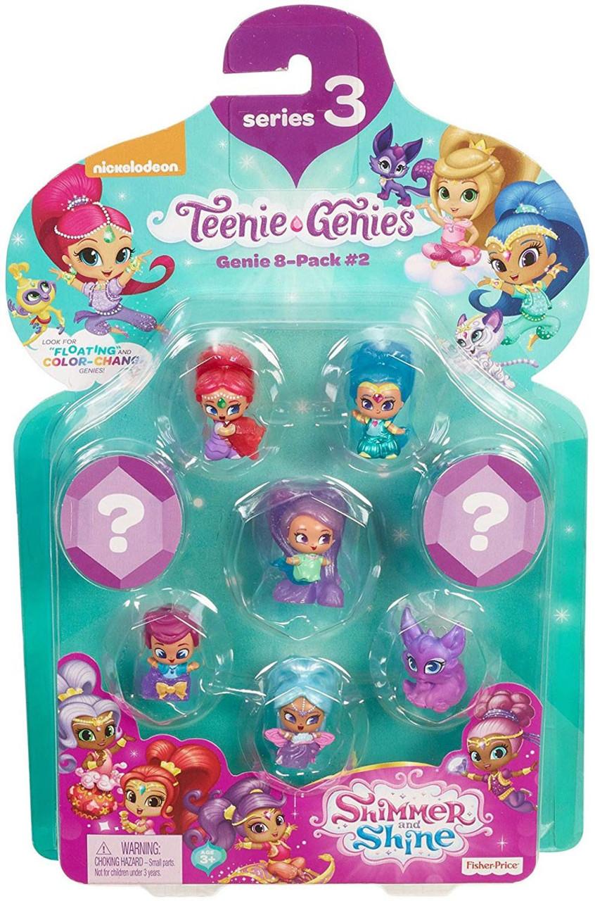 #3 8 Pack Teenie Genies Genie Fisher-Price Nickelodeon Shimmer /& Shine