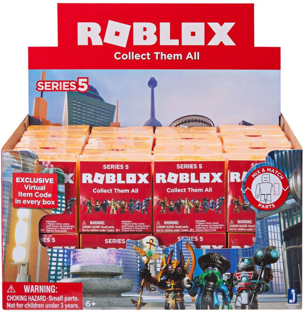 Roblox Mystery Box Series 3 - Roblox Series 5 Mystery Box Gold Cube 24 Packs Jazwares
