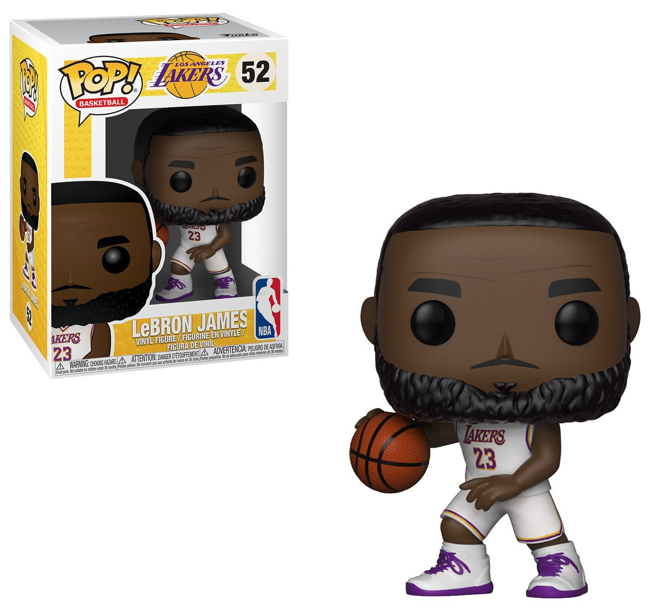 newest 10c00 b4f9c NBA Los Angeles Lakers Funko POP! Sports LeBron James Vinyl Figure #52  [White Uniform]