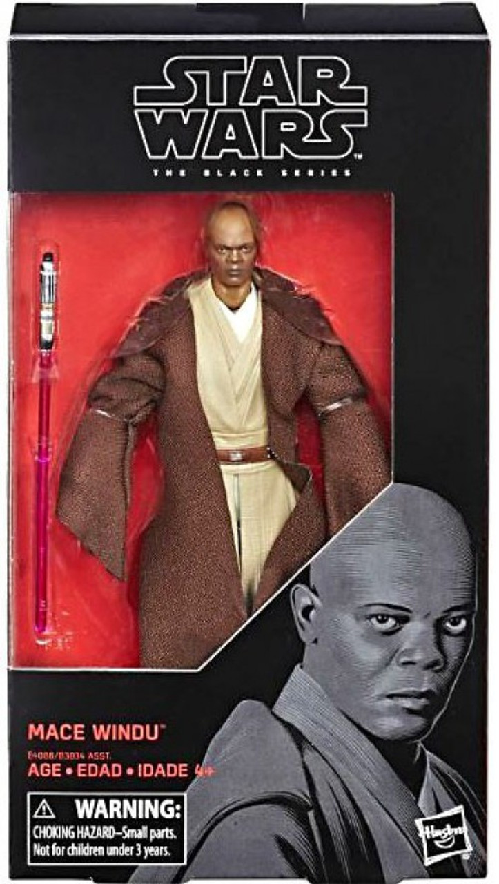 Star Wars Revenge Of The Sith Black Series Wave 31 Mace Windu 6 Action Figure Hasbro Toys Toywiz