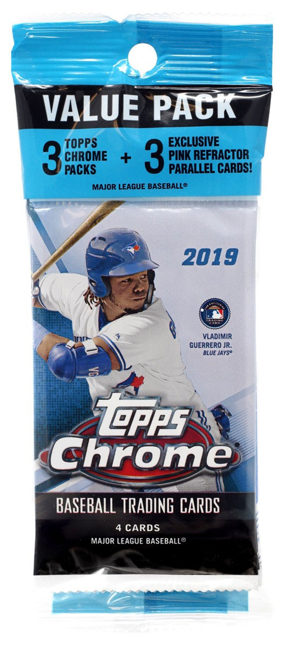 Mlb 2019 Topps Chrome Baseball Cards Trading Card Value Pack