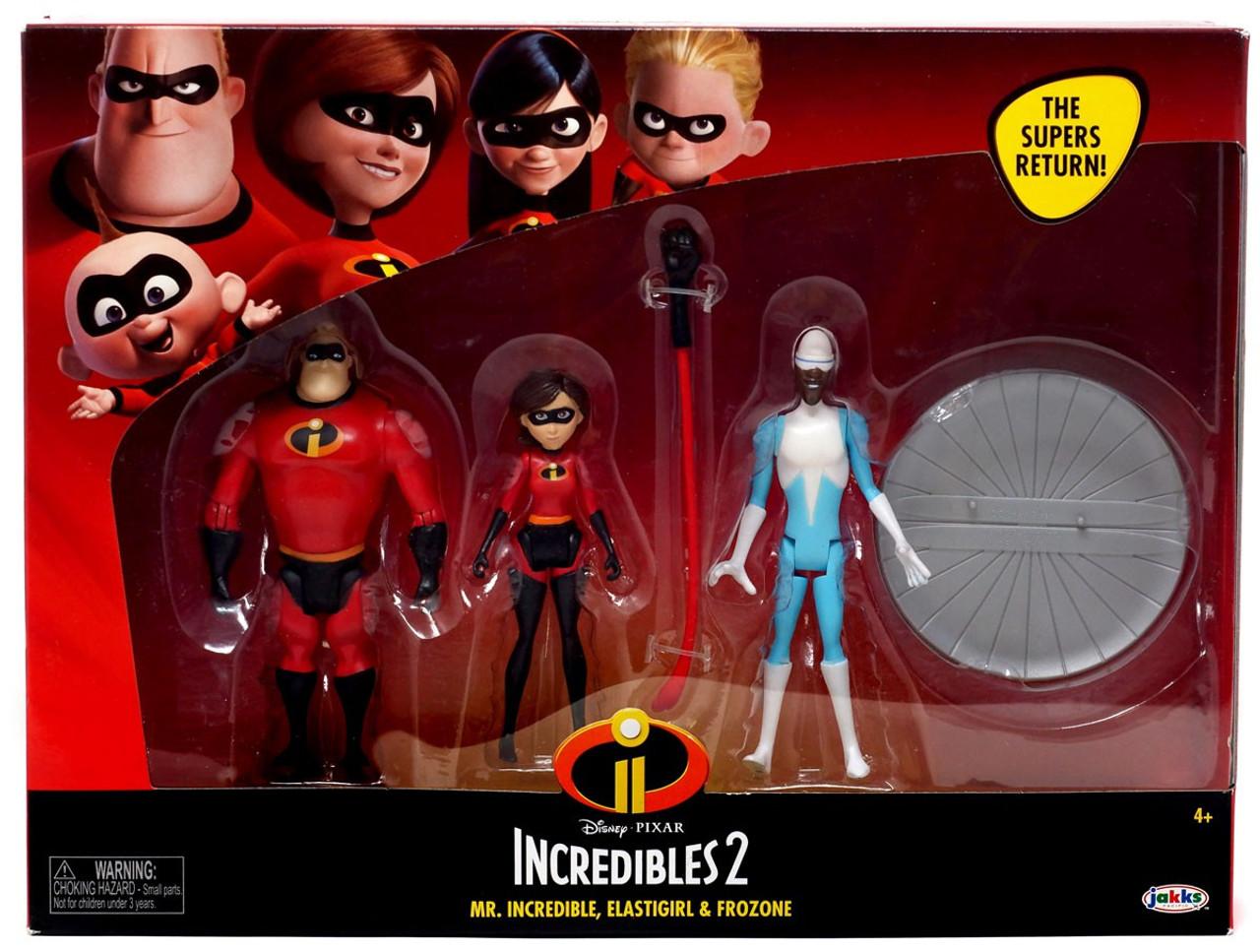 1848b0ca Disney Pixar Incredibles 2 Mr. Incredible, Elastigirl Frozone Action Figure  2-Pack Jakks Pacific - ToyWiz