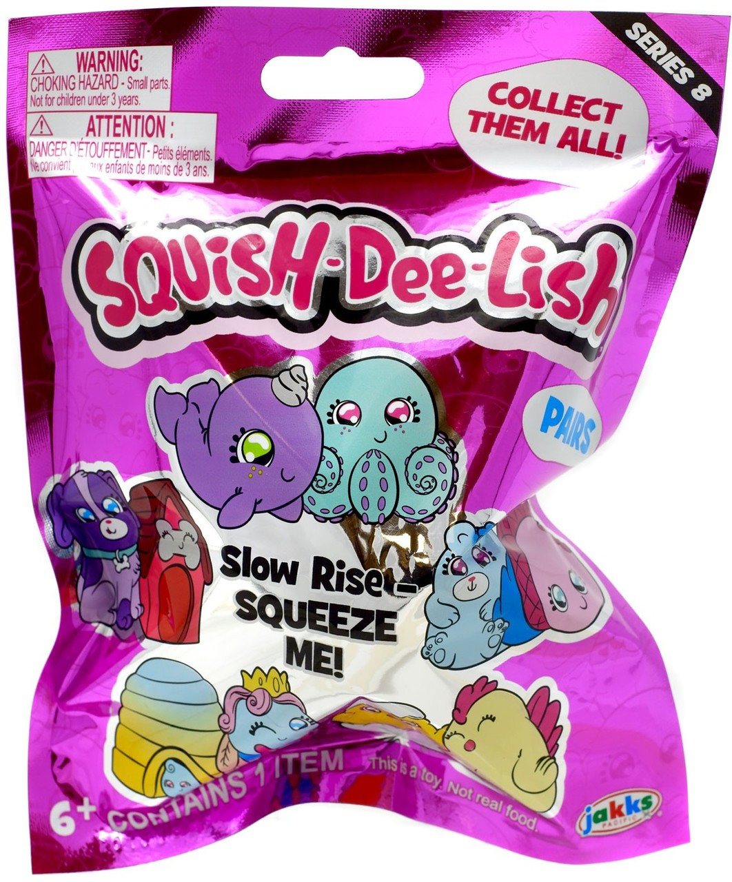Squish-Dee-Lish Series 2 Slow Rise-Squeeze Me Toy 1 pack Blind bag Christmas