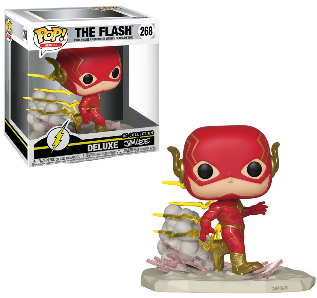 fb42fd35a57 Funko DC Collection by Jim Lee Funko POP Heroes The Flash Exclusive Deluxe Vinyl  Figure 268 - ToyWiz