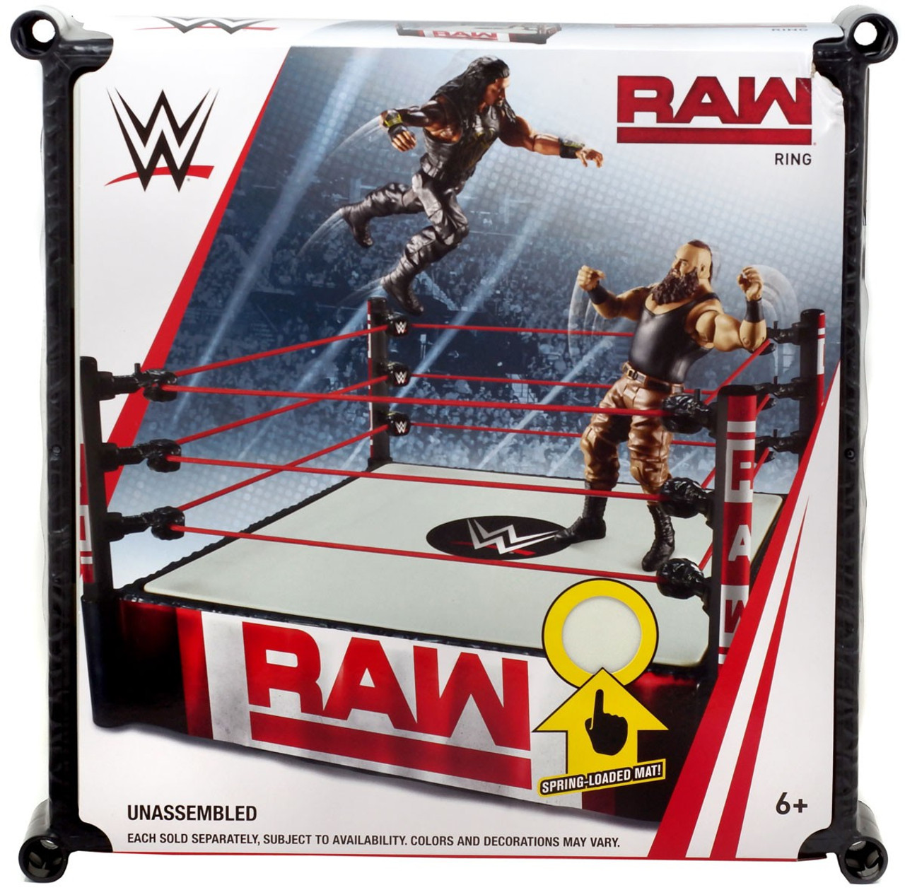 40feefb12598 WWE Wrestling Raw Superstar Ring Spring-Loaded Mat Mattel Toys - ToyWiz