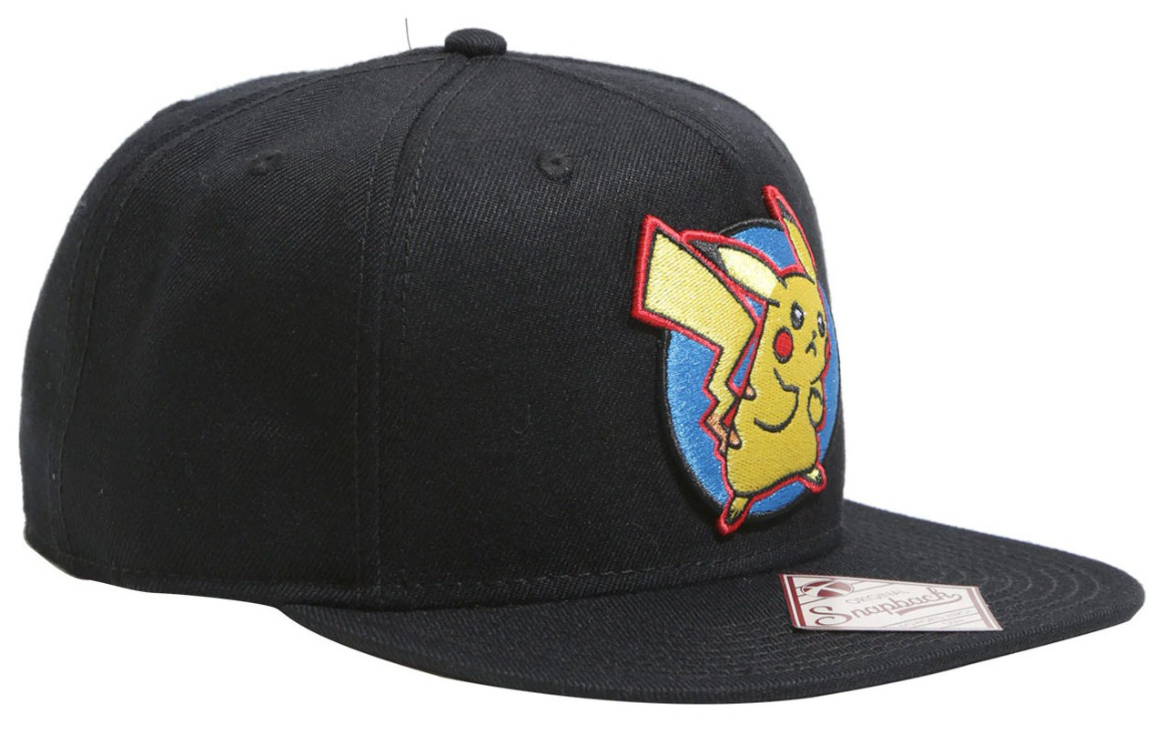 1085380d145 Pokemon Pikachu Circle Patch Snapback Cap Bioworld - ToyWiz
