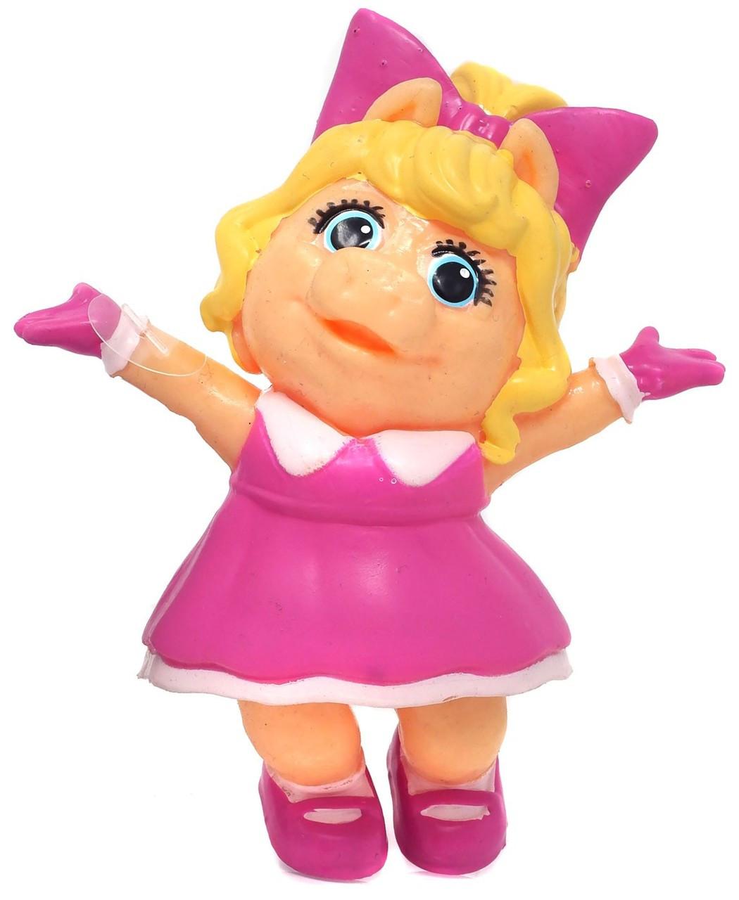 Disney Junior Muppet Babies Life-Like Piggy 3 5-Inch Rubber Figure