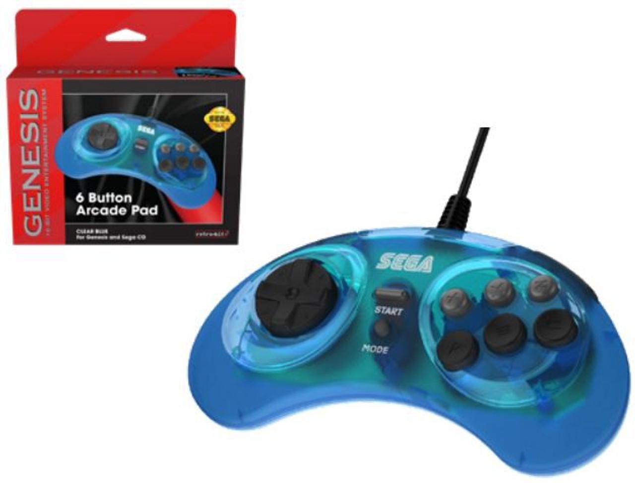 Sega Genesis 6-Button Controller [Clear Blue]