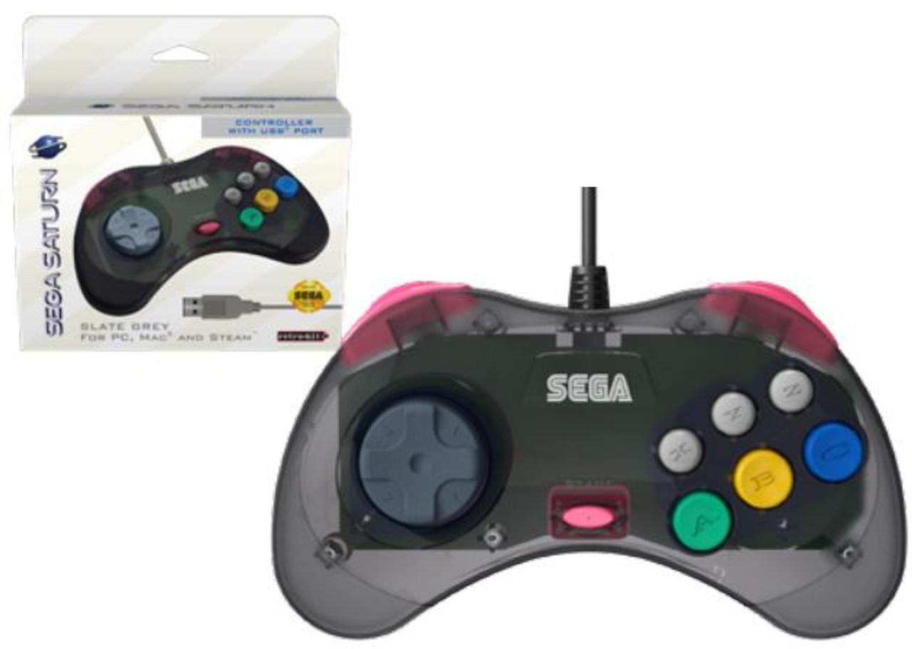 Sega Saturn USB Wired Control Pad Controller [Slate Grey]