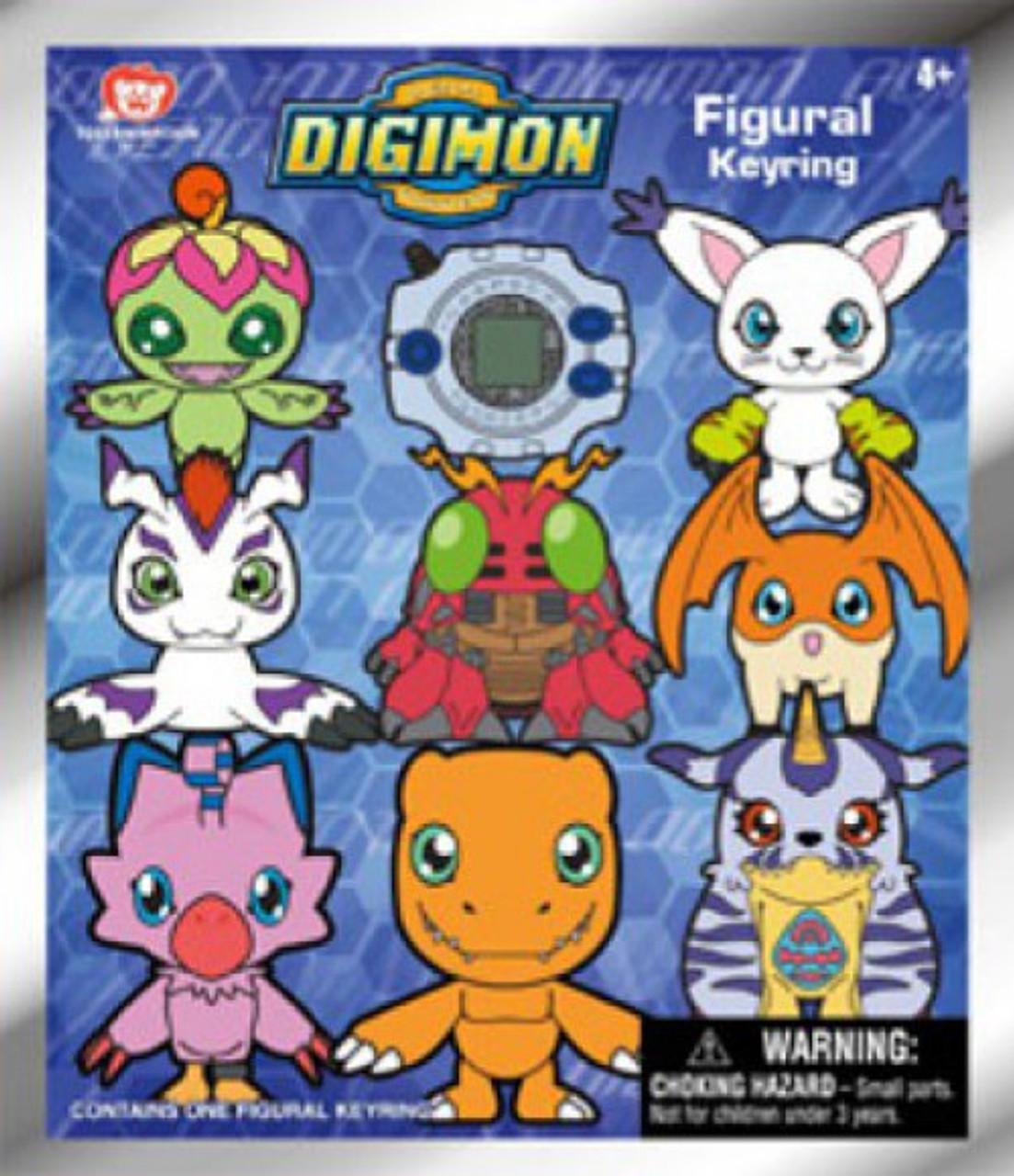 Loose Monogram Digimon 3D Gabumon Figural Key Ring Keychain