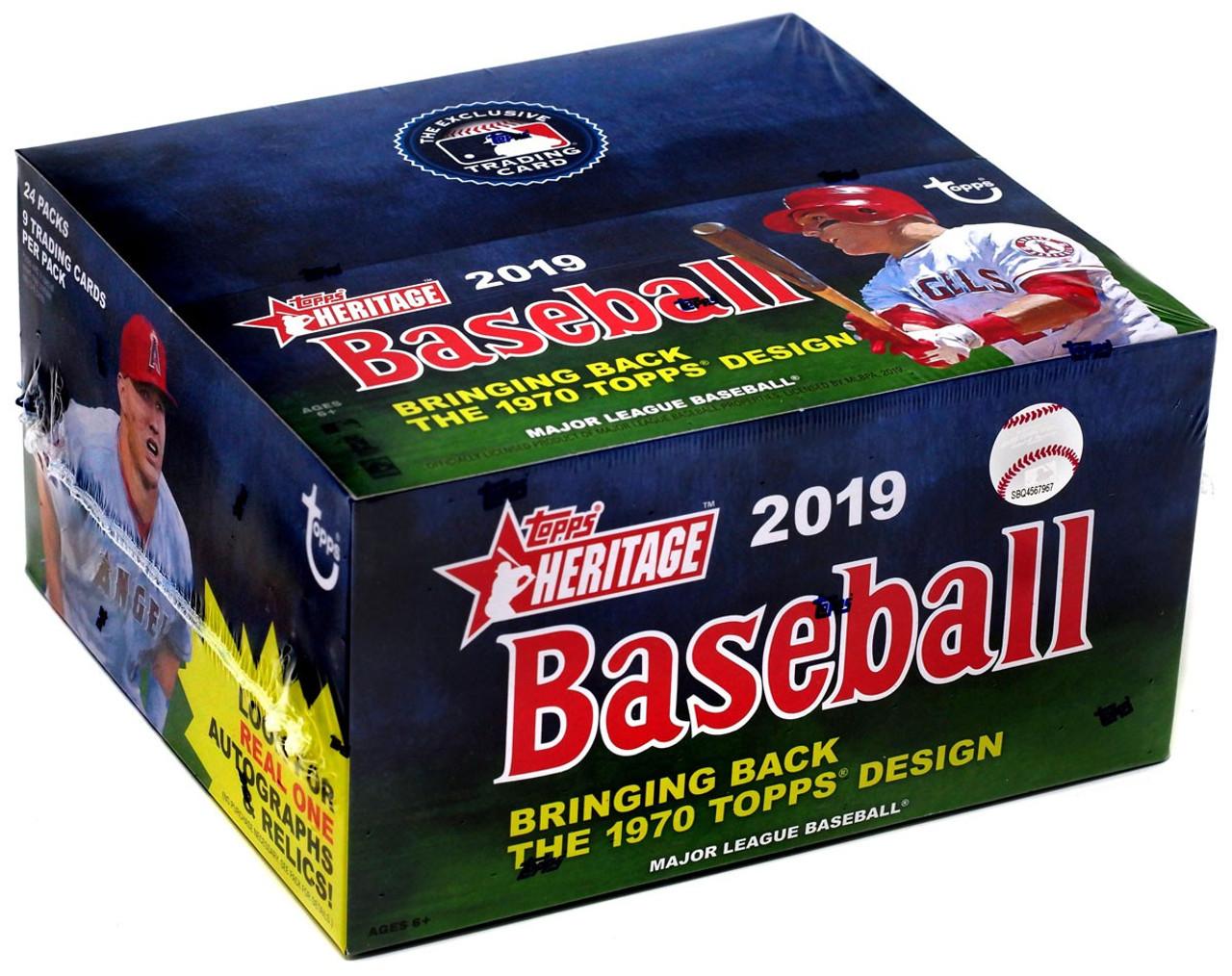Mlb 2019 Topps Heritage Baseball Trading Card Retail Box 24 Packs