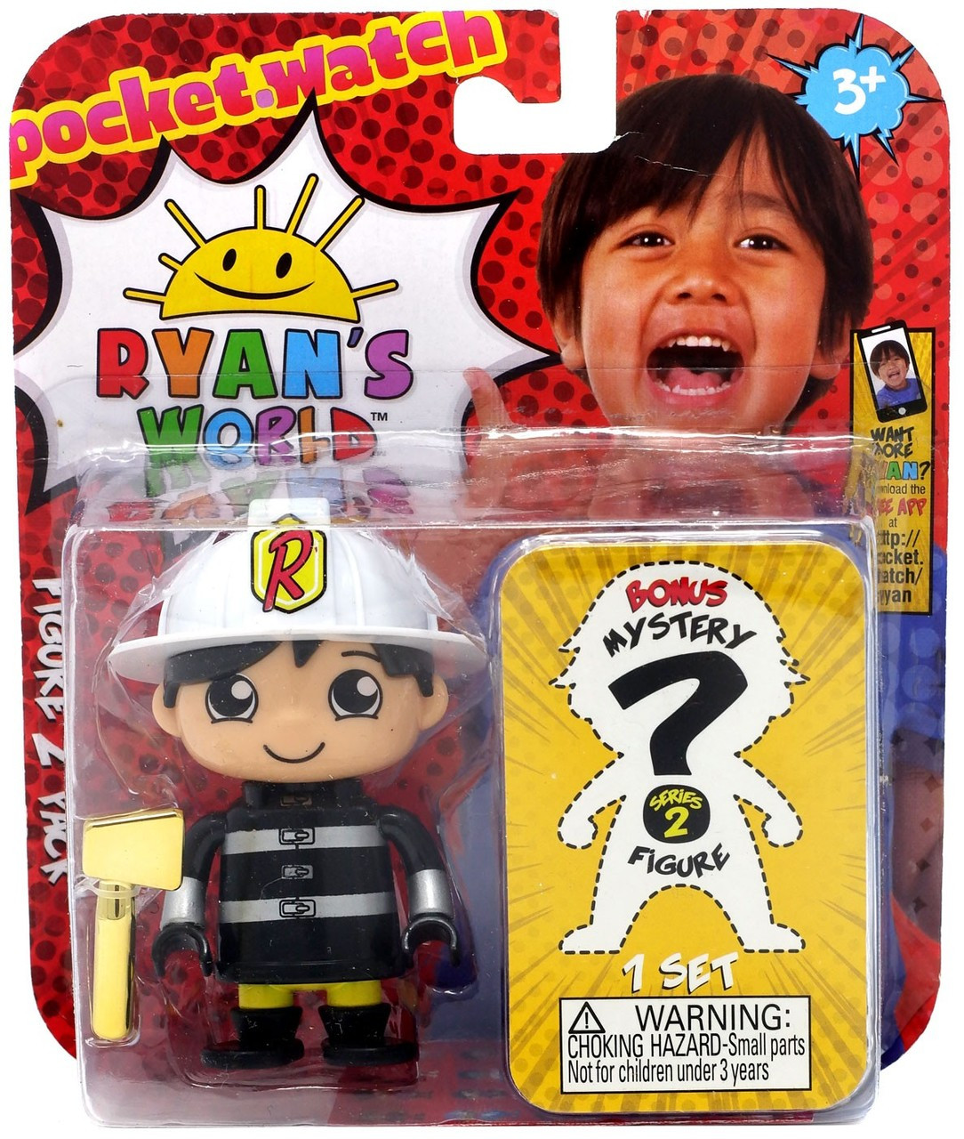 Ryan's World Fire Chief Ryan & Mystery Action Figure 2-Pack