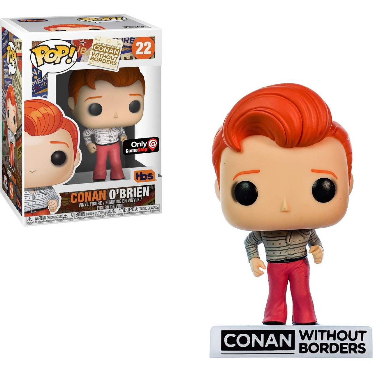 Vinyl Figure #18 **Box Conan O Brien Super Conan Gamestop Exclusive Pop