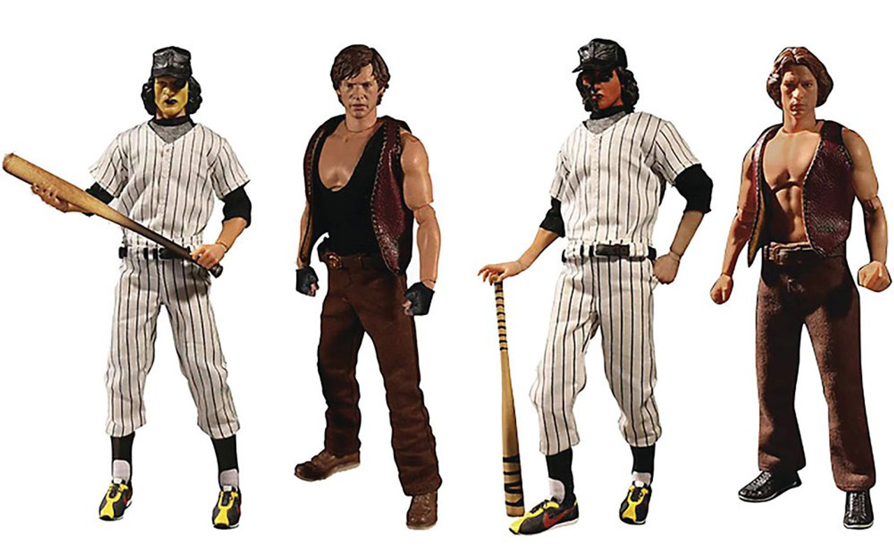 MEZCO ONE:12 COLLECTIVE THE WARRIORS SET OF 4 SWAN AJAX BASEBALL FURIES NEW