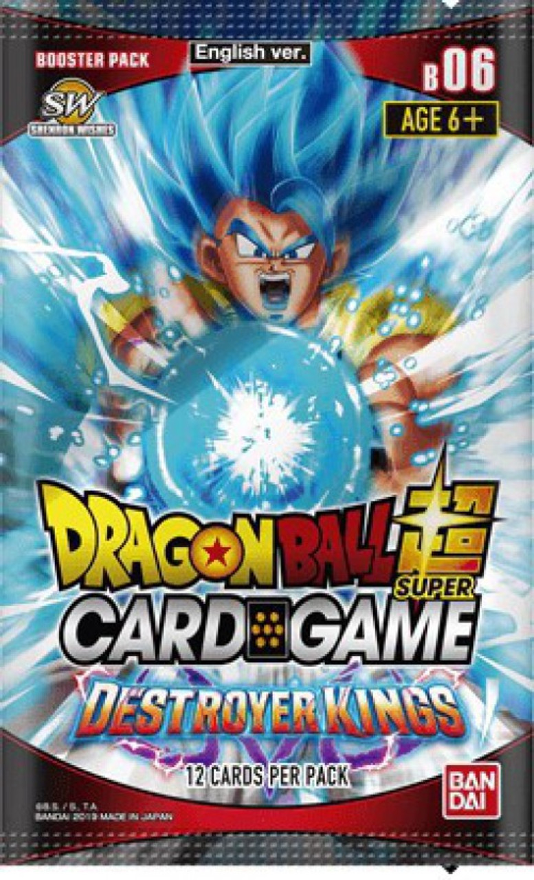 Dragon Ball Super Collectible Card Game Destroyer Kings Series 6 Booster Pack