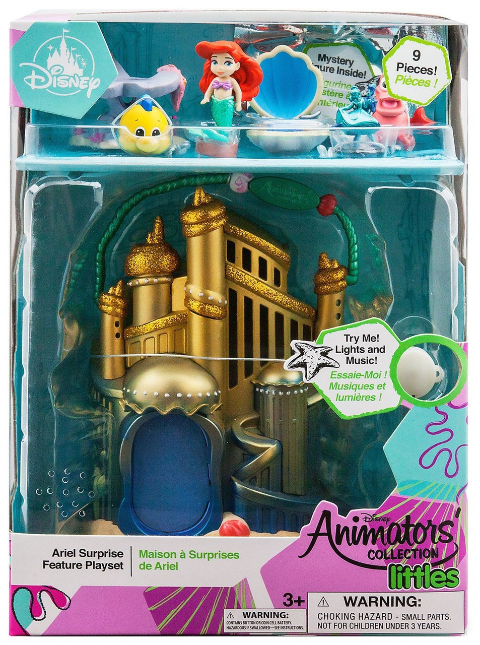 Disney Authentic Animators Collection Ariel Little Mermaid Mini Doll Play Set