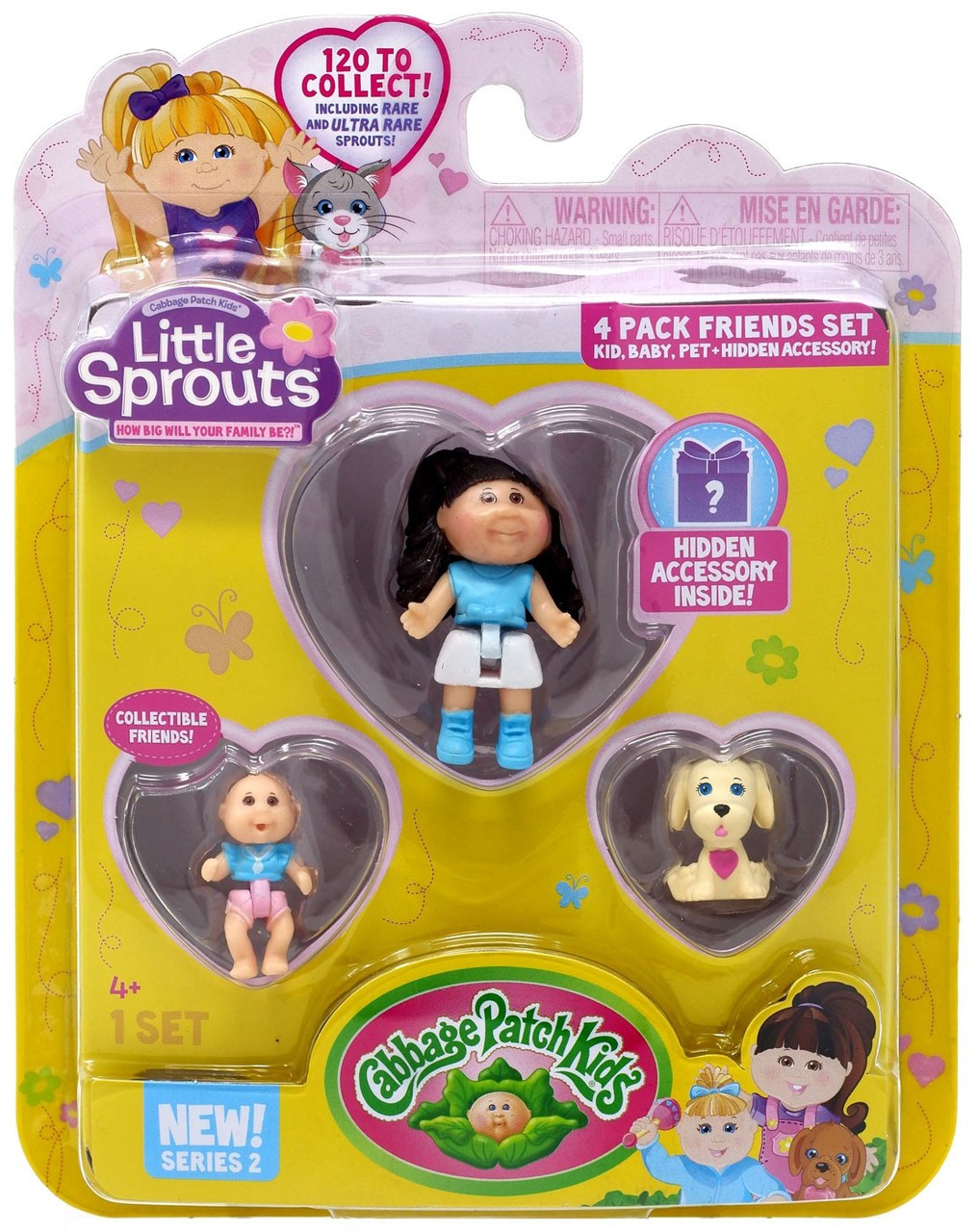 Cabbage Patch Kids Little Sprouts Series 2 Cassidy Giselle Mini Figure 4-Pack