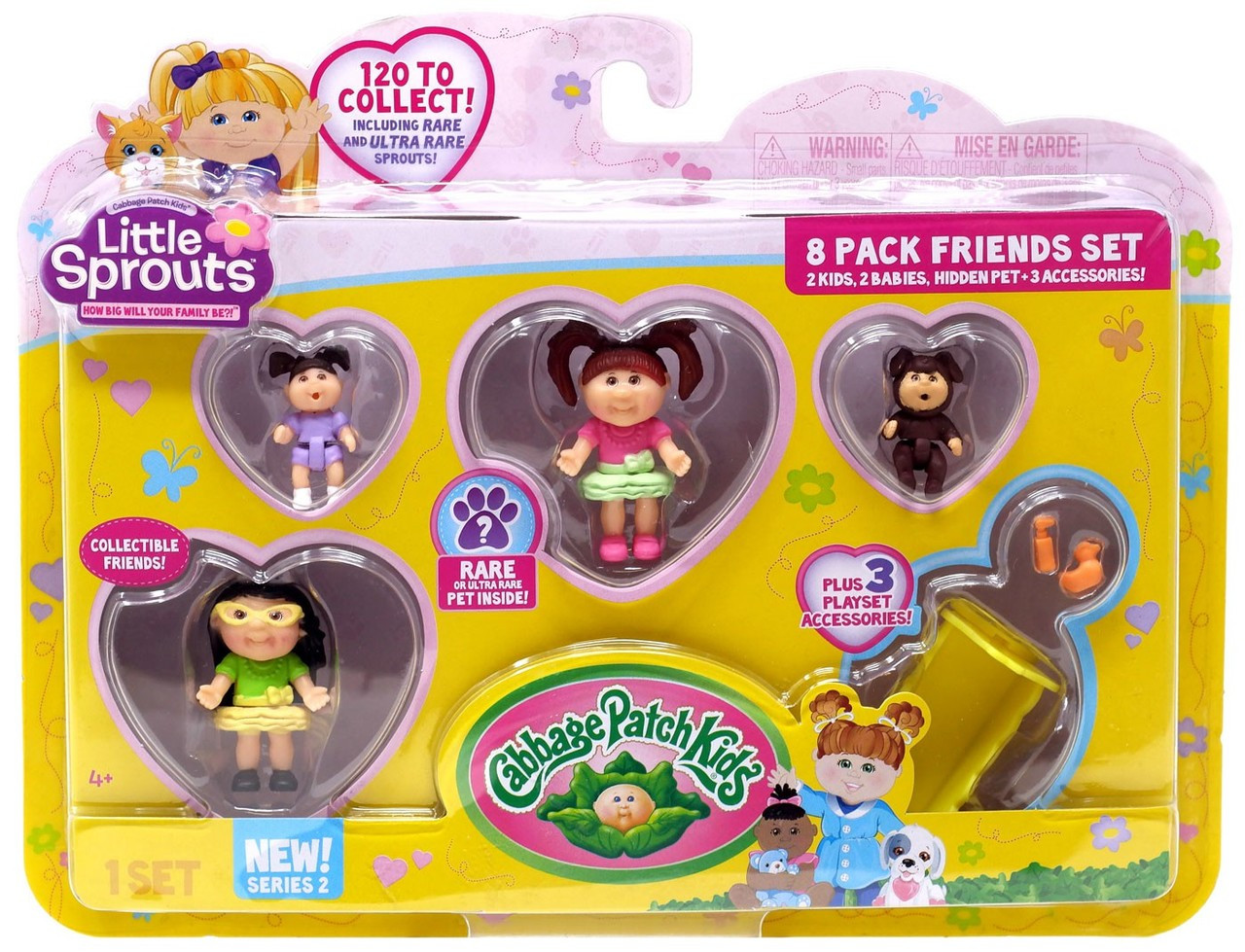 Cabbage Patch Kids Little Sprouts Series 2 Gwen Elizabeth Mini Figure 4-Pack