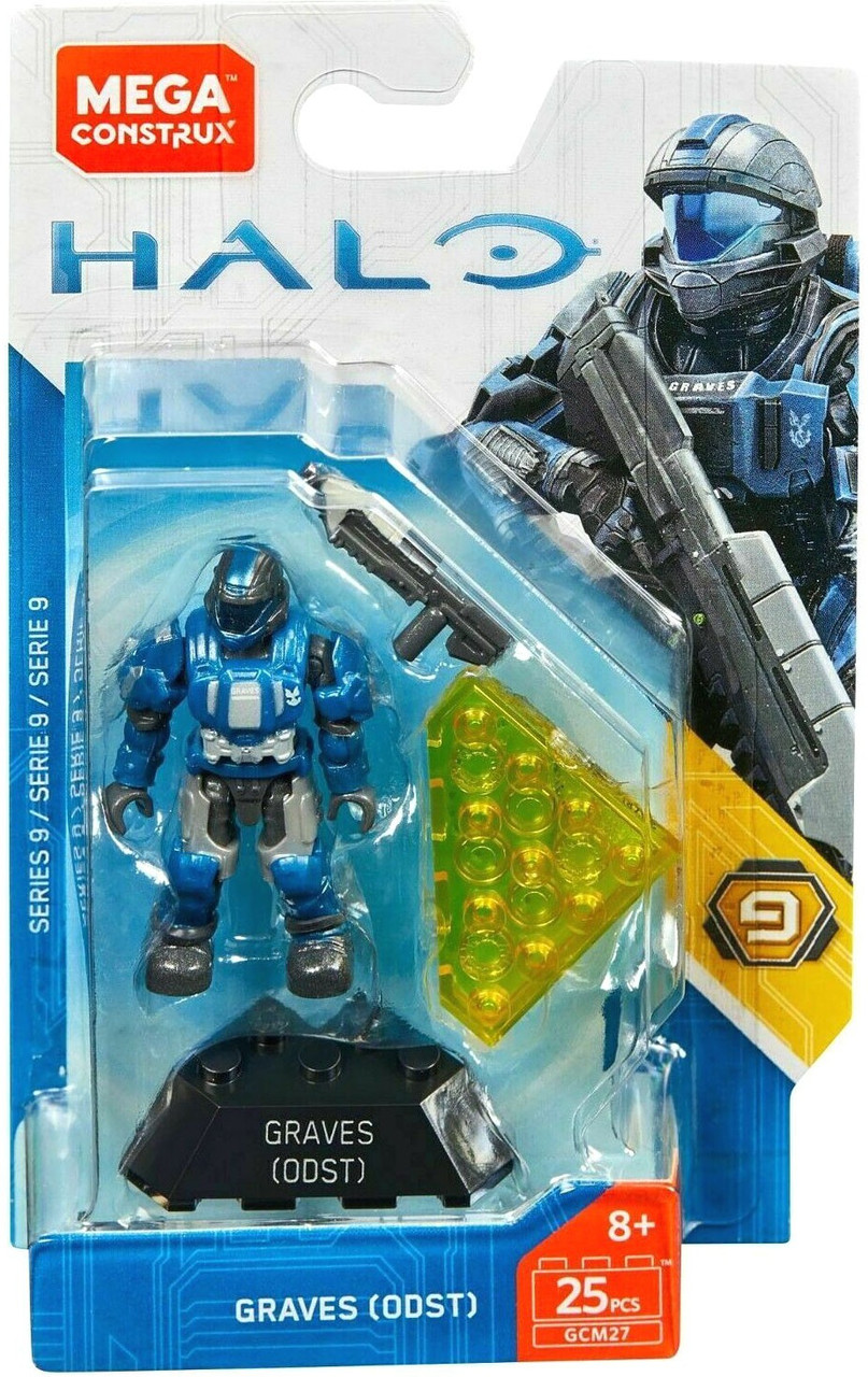 Halo Mega Construx Heroes Series 9 Graves (ODST) Mini Figure