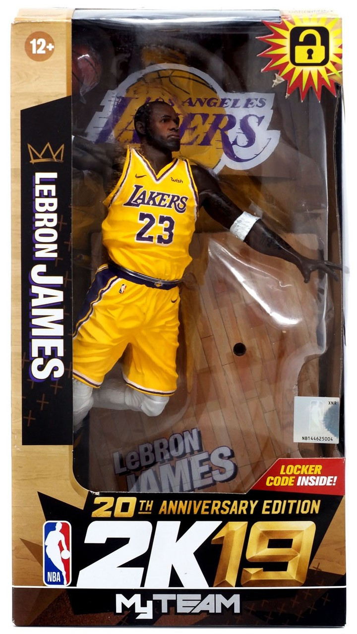 22c4717fb68f McFarlane Toys NBA Los Angeles Lakers NBA 2K19 MyTeam Series 1 Lebron James  Exclusive Action Figure 20th Anniversary Edtition - ToyWiz