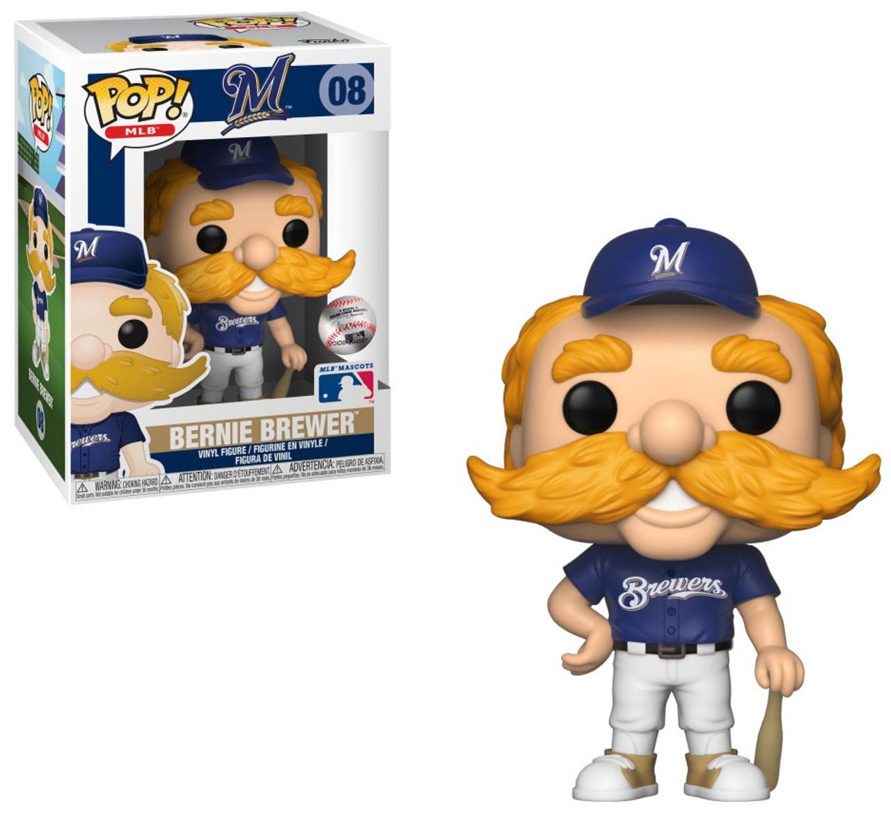 1e742d0a51f Funko Major League Baseball Milwaukee Brewers Funko POP MLB Bernie the  Brewer Vinyl Figure Mascot - ToyWiz