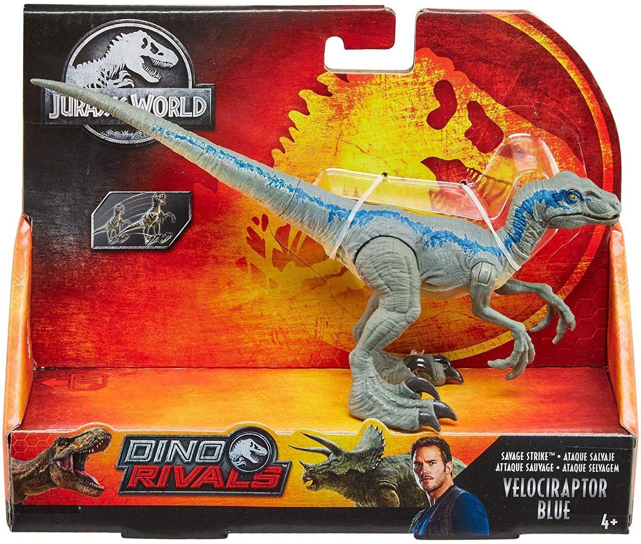 Jurassic World Velociraptor Blue Dinosaur Toy Attack Pack Figure Fallen Kingdom
