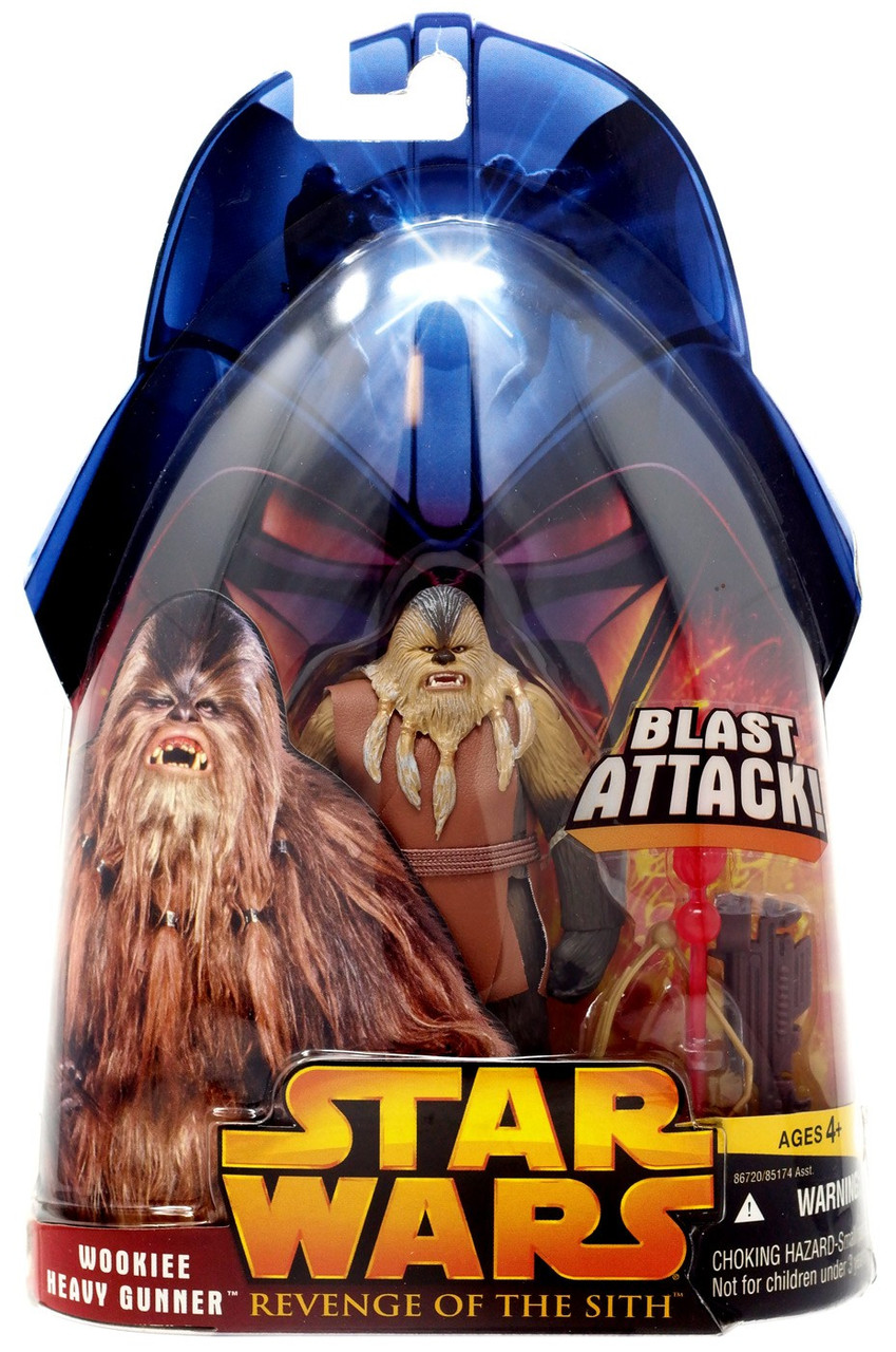 Star Wars Revenge of the Sith Wookie HEAVY GUNNER Action Figure 68 Blast Attack
