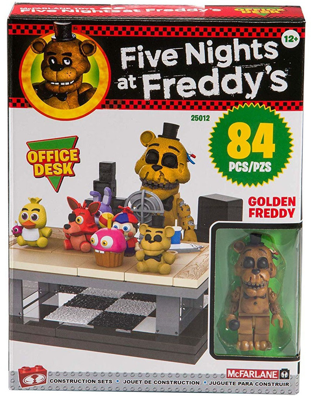 Finding Springtraps Secret And Halloween Event Badges In Roblox Mcfarlane Toys Five Nights At Freddys Office Desk Build Set Golden Freddy Toywiz