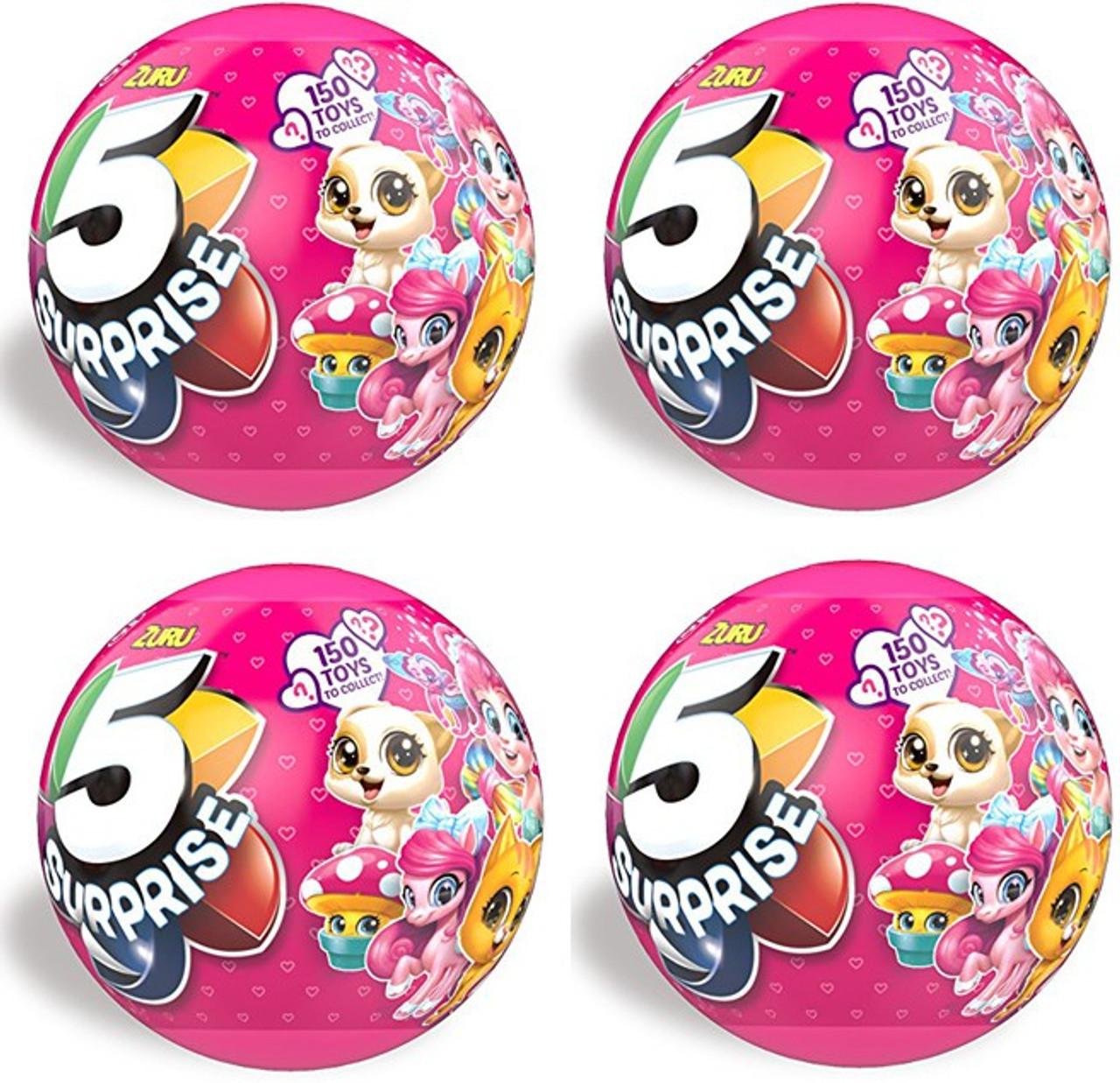 Lot Of 4 Zulu  5 Surprises  Pink Ball Girl Series