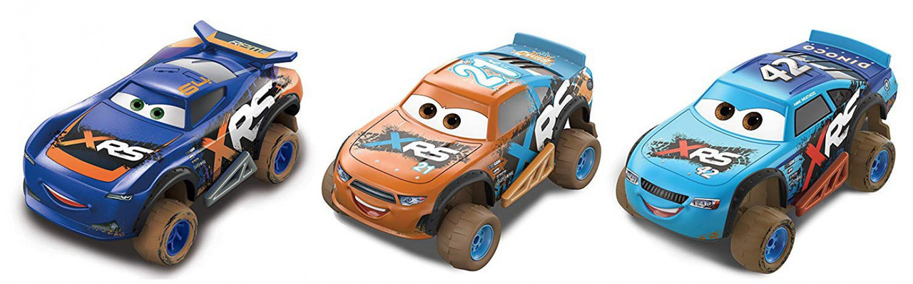 Disney Pixar Cars Xrs Mud Racing Mud Racing Jackson Storm Barry