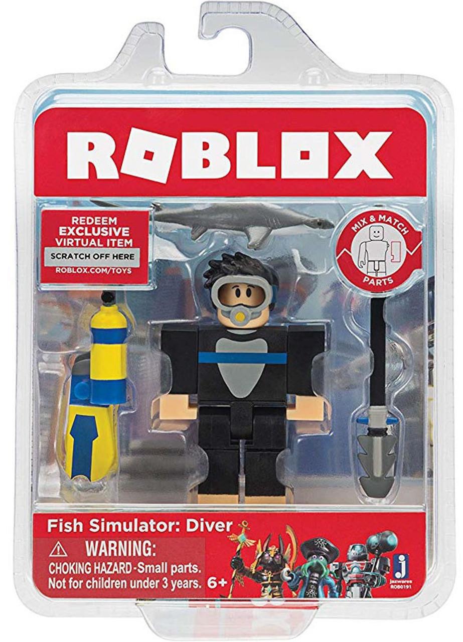 Roblox Fish Simulator Diver 3 Action Figure Jazwares Toywiz