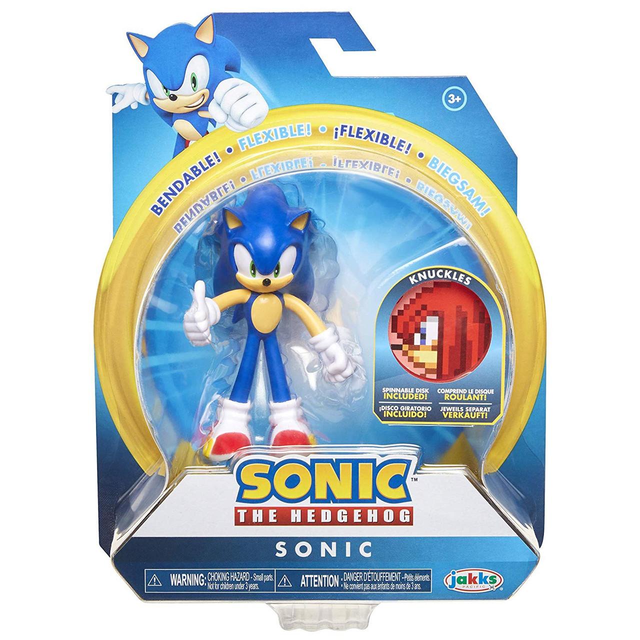 Sonic The Hedgehog 2020 Series 1 Sonic 4 Action Figure Knuckles Spinnable Disk Jakks Pacific Toywiz