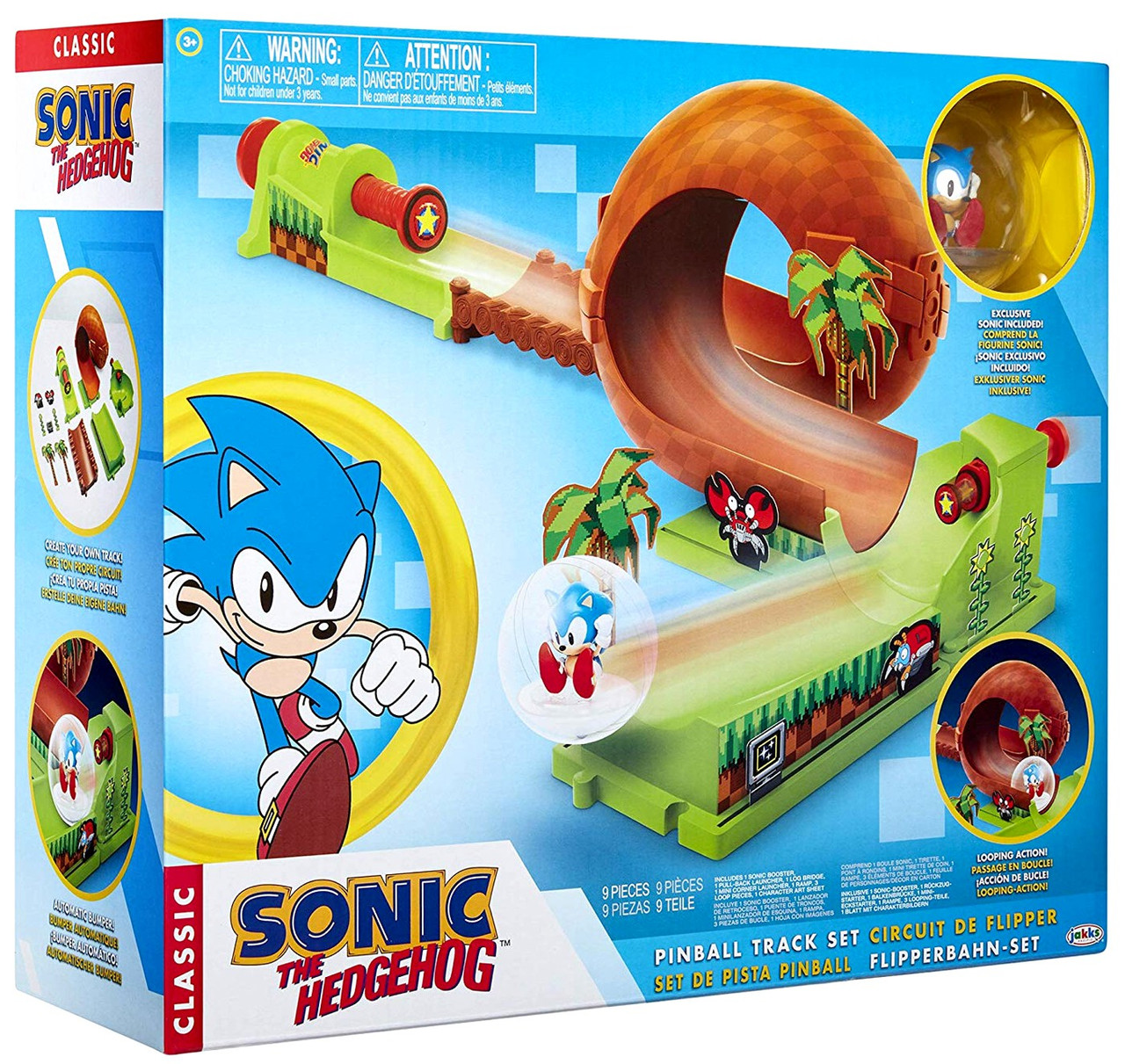 Sonic The Hedgehog Sonic Pinball Playset Jakks Pacific Toywiz