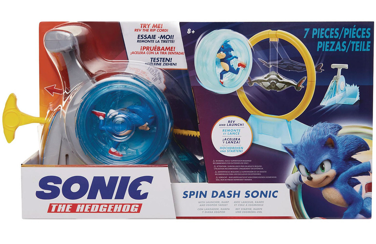 Sonic The Hedgehog Spin Dash Sonic Rev Launch Toy Jakks Pacific Toywiz